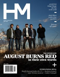 Cover of HM, May 2013 #166, featuring August Burns Red