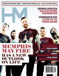 Cover of HM, Mar 2014 #176, featuring Memphis May Fire