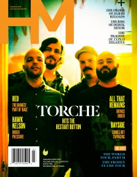 Cover of HM, Mar 2015 #188, featuring Torche