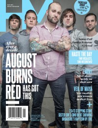 Cover of HM, May 2015 #190, featuring August Burns Red