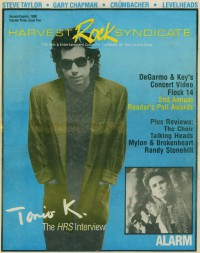 Cover of Harvest Rock Syndicate, Sum 1988 v. 3, i. 2, featuring Tonio K.
