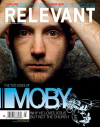 Cover of Relevant, May / Jun 2005 #14, featuring Moby