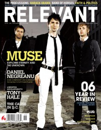 Cover of Relevant, Nov / Dec 2006 #23, featuring Muse