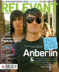 Cover for March 2007, featuring Anberlin