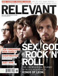 Cover of Relevant, May / Jun 2009 #39, featuring Kings of Leon