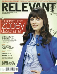 Cover of Relevant, Jul / Aug 2009 #40, featuring Zooey Deschanel