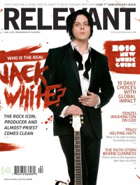Cover of Relevant, Mar / Apr 2010 #44, featuring Jack White (The White Stripes)