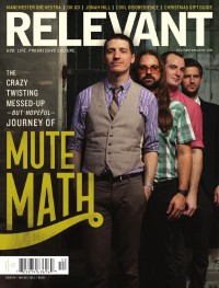 Cover of Relevant, Nov / Dec 2011 #54, featuring Mute Math