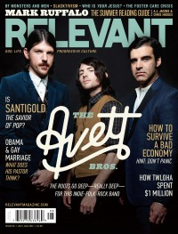 Cover of Relevant, Jul / Aug 2012 #58, featuring The Avett Brothers