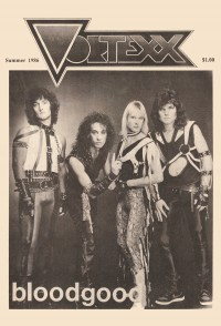 Cover for Summer 1986, featuring Bloodgood