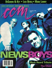 Cover of CCM, Sep 1994 v. 17, i. 3, featuring The Newsboys