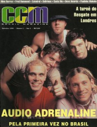 Cover of CCM Brasil, Sep 1998 v. 1, i. 1, featuring Audio Adrenaline