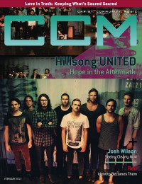 Cover of CCM Digital, Feb 2011, featuring Hillsong United