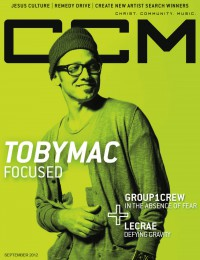 Cover of CCM Digital, Sep 2012, featuring TobyMac
