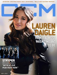 Cover of CCM Digital, 1 Nov 2015, featuring Lauren Daigle