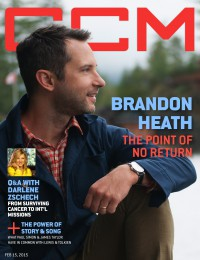 Cover of CCM Digital, 15 Feb 2015, featuring Brandon Heath