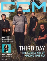 Cover of CCM Digital, 15 Mar 2015, featuring Third Day