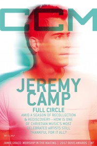 Cover of CCM Digital, 15 Oct 2017, featuring Jeremy Camp