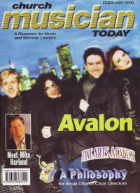 Cover of Church Musician Today, Feb 2000 v. 3, i. 6, featuring Avalon