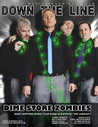 Cover of Down The Line, Mar 2014 #16, featuring Dime Store Zombies