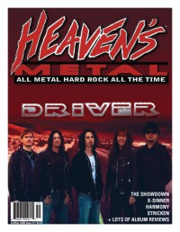 Cover of Heaven's Metal, Oct / Nov 2008 #77, featuring Driver