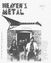 Cover of Heaven's Metal, Nov 1985 v. 1, i. 3, featuring Daniel Band
