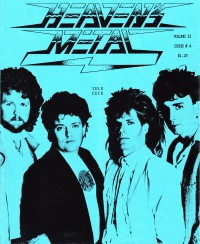 Cover of Heaven's Metal, 1987 v. 2, i. 4, featuring Idle Cure