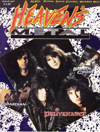 Cover of Heaven's Metal, Dec 1990 / Jan 1991 #27, featuring Deliverance