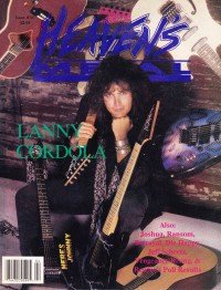 Cover of Heaven's Metal, Mar / Apr 1992 #34, featuring Lanny Cordola