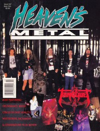 Cover of Heaven's Metal, Sep / Oct 1992 #37, featuring Tourniquet