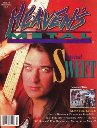 Cover of Heaven's Metal, Mar / Apr 1994 #46, featuring Michael Sweet