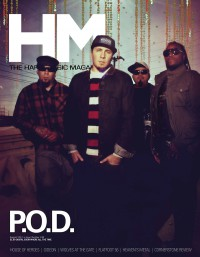 Cover of HM, Aug 2012 #158, featuring P.O.D.