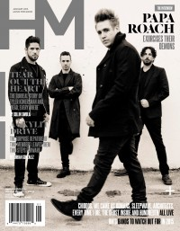 Cover of HM, Jan 2015 #186, featuring Papa Roach