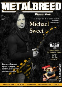 Cover of Metalbreed, Feb 2018 v. 1, i. 5, featuring Michael Sweet